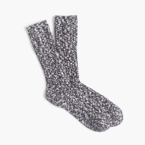 J Crew Marled Camp Socks in Heather Carbon OS NEW!